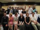 表彰式終了後に国際審査員全員による記念撮影。